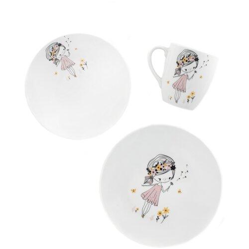 Набор посуды Salad Девочка с цветами