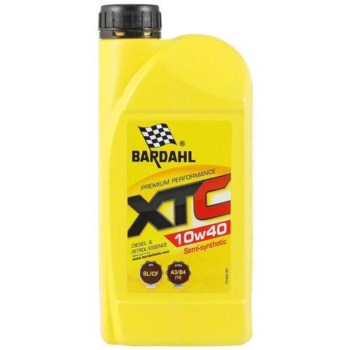 Полусинтетическое моторное масло Bardahl XTC 10W-40 SL/CF, 1 л полусинтетическое моторное масло bardahl xtc 10w 40 sl cf 4 л