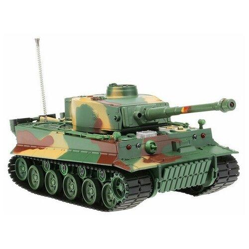 Фото - Радиоуправляемый танк Heng Long 1/26 Tiger I ИК-версия, пульт MHz, RTR 3828 радиоуправляемый танк heng long радиоуправляемый мини танковый бой cs toys 9819