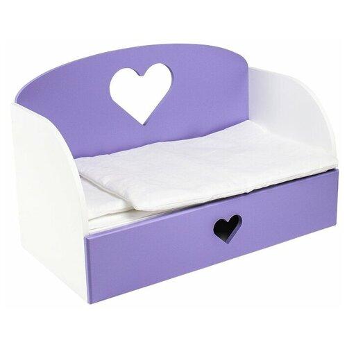 PAREMO Диван-кровать для кукол Сердце (PFD120-M) сиреневый