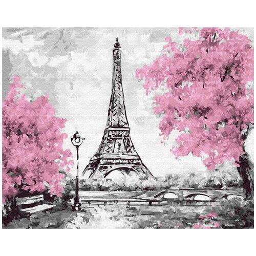 Купить Картина по номерам ВанГогВомне Розовый Париж 40х50 см, ВанГогВоМне, Картины по номерам и контурам