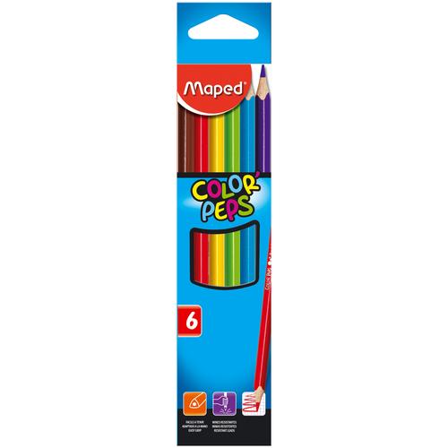 Фото - Maped Цветные карандаши Color Peps 6 цветов (832002) карандаши набор 18цв аквар maped color peps aqua кисть