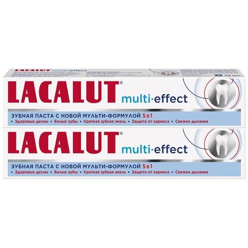 Купить Зубная паста Lacalut Multi-effect, 75 мл, 2 шт.