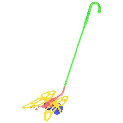 Фото - Каталка-игрушка ОГОНЁК Бабочка (ОГ675) красный/зеленый/желтый игрушка для ванной огонёк утенок с 355 желтый красный