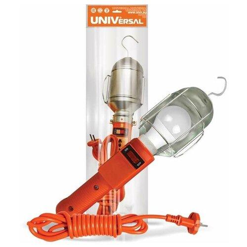 Переносные светильники Universal Светильник переносной ПВС 2х0.75 с выкл. 10м 220В UNIVersal 966U-0110