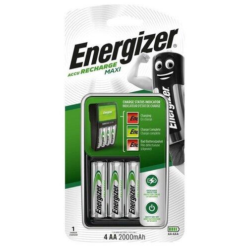 Фото - Зарядное устройство Energizer Maxi: 2/4 слота AA/AAA, + 4 акк. AA 2000mAh парик из искусственных волос aa bb