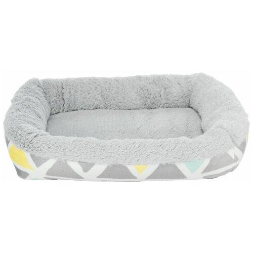 Лежак с бортиком Bunny, плюш, 38 х 7 х 25 см, разноцветный/серый, Trixie (товары для животных, 62803)
