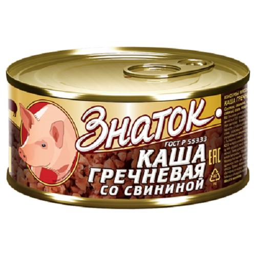 Каша гречневая со свининой Знаток ГОСТ -0,325кг)