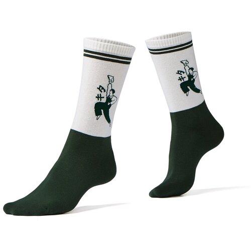 Носки Красная Жара (темно-зеленый; молочный) 36-41