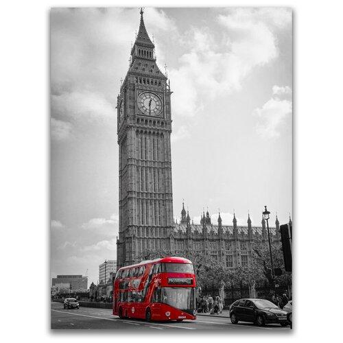 Картина на холсте LOFTime 30х40 БИГ БЕН красный автобус К-043-3040