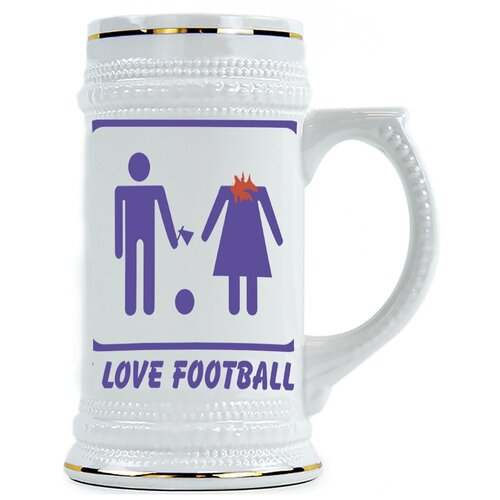 Пивная кружка I love football!