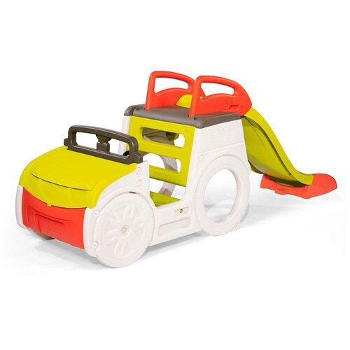 Спортивно-игровой комплекс Smoby Приключенческий автомобиль 840205, зеленый/красный/белый