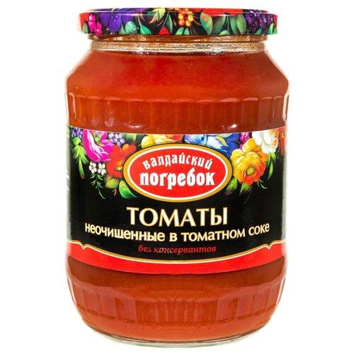 томаты очищенные резаные в томатном соке bioitalia 400 г Томаты неочищенные в томатном соке Валдайский Погребок, 660 г, 720 мл