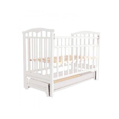 детские кроватки агат золушка 6 маятник продольный с ящиком Кровать Золушка -6 маятник продольный, ящик (52104, белая)
