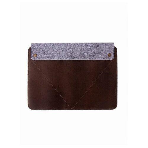 Чехол для MacBook Pro 16 Richline ЧФК16/Светло-серый-шоколад