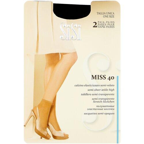 Капроновые носки Sisi Miss 40 Den New, 2 пары, размер 0 ( one size), nero