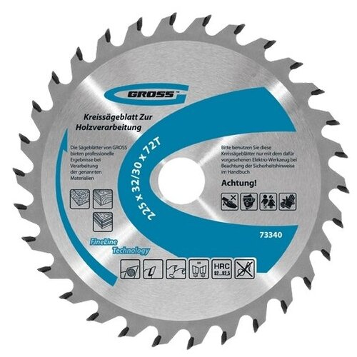 Пильный диск Gross 73340 225х32 мм