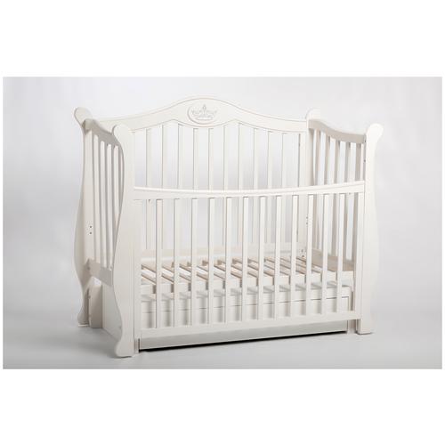 Купить Кроватка детская Baby-Luce Капитан К белая серебро, Кроватки
