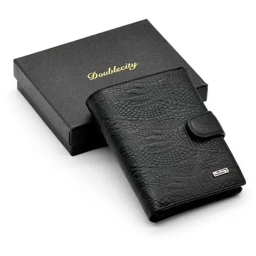 Фото - Мужское кожаное портмоне для документов и денег с RFID защитой Doublecity 068-DC31-08A (101644) портмоне мужское кожаное для документов и денег вп а дымчато черный apache