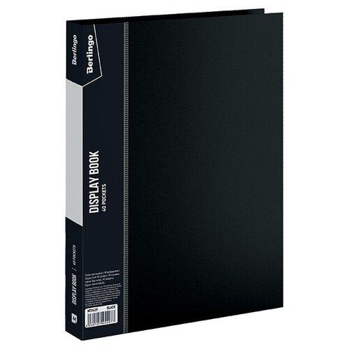 Фото - Berlingo Папка с 40 вкладышами Standard A4, пластик черный berlingo папка со 100 вкладышами standard a4 пластик синий