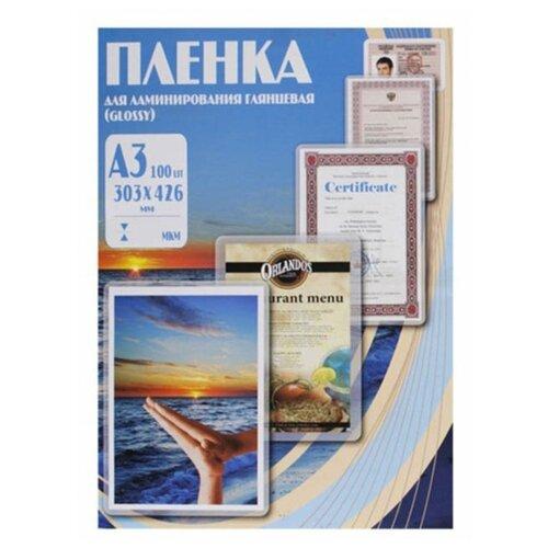 Фото - Пленка для ламинирования Office Kit A3 303x426мм 60мкм 100шт глянцевая PLP10025 ilam office a3 серебристо серый