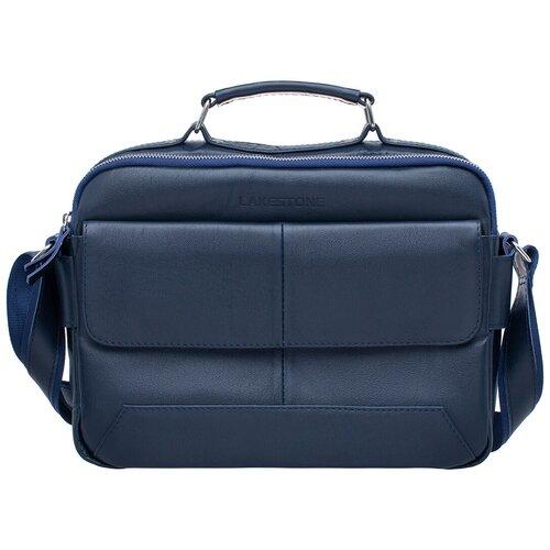 Мужская сумка мессенджер Button Dark Blue мужская кожаная