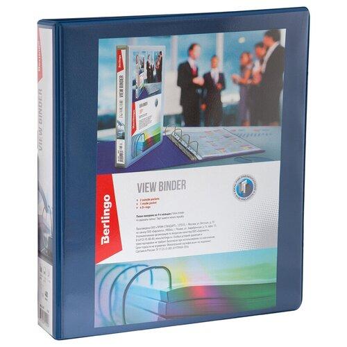 Фото - Berlingo Папка на 4-х кольцах A4, панорама, ПВХ, 65 мм синий brauberg папка на 2 х кольцах a4 картон пвх 35 мм синий