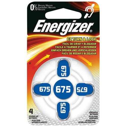 Фото - Батарейка Energizer Zinc Air 675, 4 шт. батарейка energizer max plus aa 4 шт