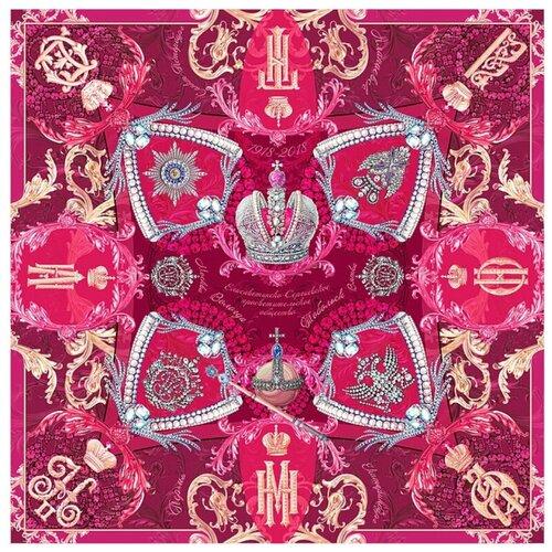 Платок Русские в моде by Nina Ruchkina Императорский маршрут пурпурный розовый/красный