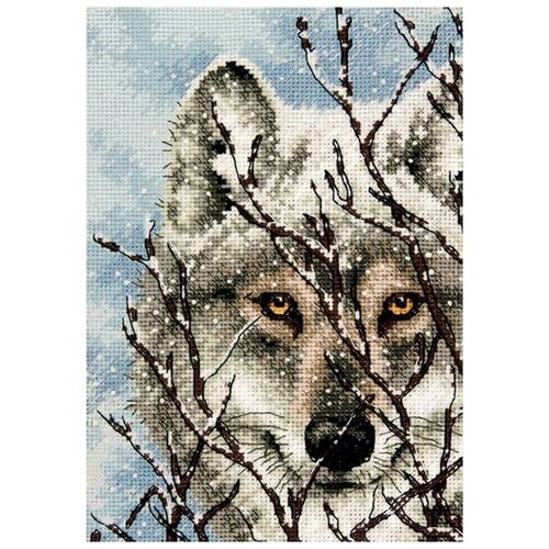 Набор для вышивания «Волк», 12,7x17,7 см, Dimensions