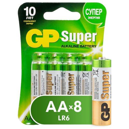 Фото - Батарейка GP Super Alkaline AA, 8 шт. батарейка energizer max plus aa 4 шт