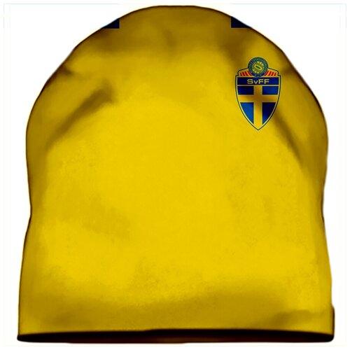 Шапка мужская футбол, ЧМ 2018, форма Сборная Швеции