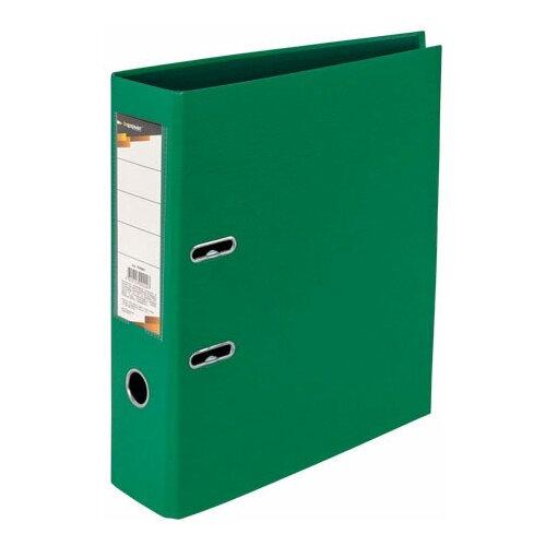 InФормат Папка-регистратор VP9080 А4, 75 мм с односторонним покрытием зеленый регистратор inформат а4 5 5 см фиолетовый