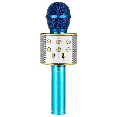 Беспроводной караоке-микрофон WS-858 (голубое золото)