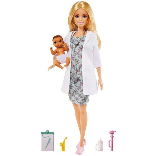 Купить Кукла Barbie Педиатр с малышом-пациентом, GVK03, Куклы и пупсы