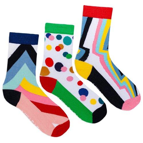 Комплект женских носков с принтом lunarable Геометрия, белые, светло-зеленые, голубые, светло-розовые, желтые