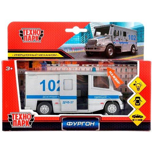 Фургон ТЕХНОПАРК Фургон Полиция (SB-19-12WB), 14 см, серый