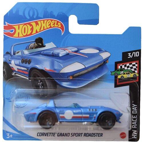 Купить Hot Wheels Базовая машинка Corvette Grand Sport Roadster, голубая, Машинки и техника