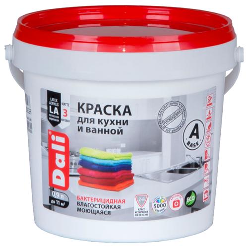 Фото - Краска акриловая DALI для кухни и ванной влагостойкая моющаяся матовая белый 0.9 л краска акриловая dali для кухни и ванной влагостойкая моющаяся матовая белый 5 л
