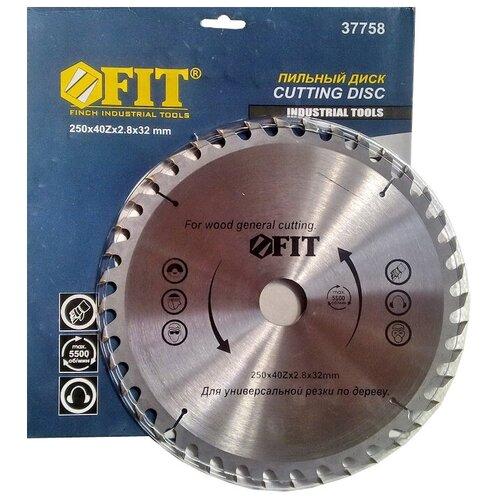 Фото - Пильный диск FIT 37758 250х32 мм диск пильный твердосплавный fit ф250х32мм 40зуб 37758