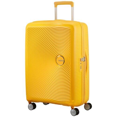 Чемодан American Tourister Soundbox M 81 л, golden yellow чемодан american tourister sunside черный m