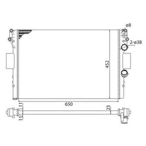Основной радиатор (двигателя) Magneti Marelli 350213183003