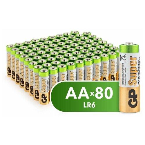 Фото - Батарейка GP Super Alkaline AA, 80 шт. батарейка energizer max plus aa 4 шт