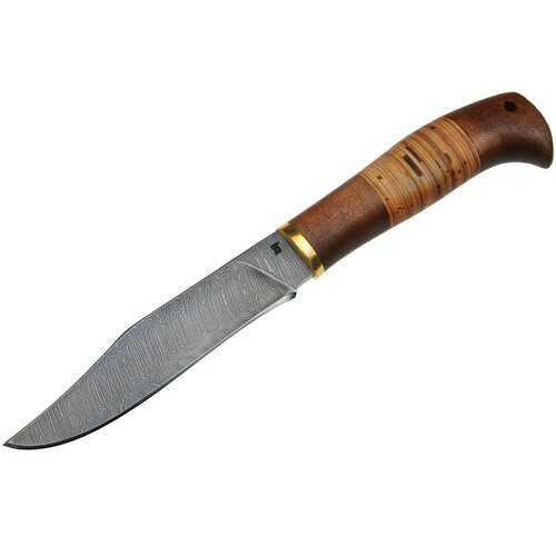 Нож Гефест (дамасская сталь), береста