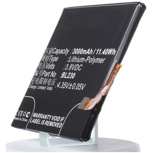 Аккумулятор iBatt iB-U1-M966 3000mAh для Lenovo VIBE Z2, Vibe Z2, VIBE Z2t, VIBE Z2w,