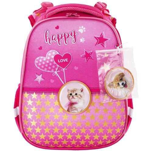 Купить BRAUBERG Ранец Happy kitten (229896), розовый, Рюкзаки, ранцы