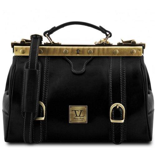 Кожаный саквояж Tuscany Leather Monalisa TL10034 Черный