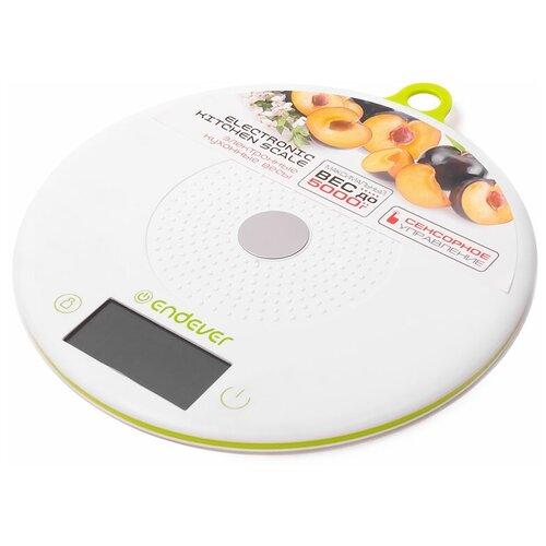 Кухонные весы ENDEVER KS-523 белый/салатовый весы кухонные endever ks 518