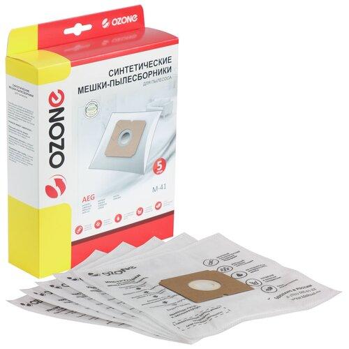 Мешки-пылесборники Ozone синтетические 5 шт для пылесоса ZANUSSI ZAN3910