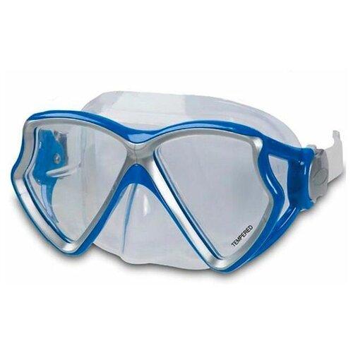 Фото - Маска для плавания Intex Silicone Aviator Pro Mask синяя, от 8 лет набор для плавания intex aqua pro серый